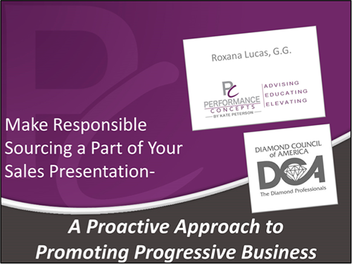Make Responsible Sourcing Part of Your Sales Presentation